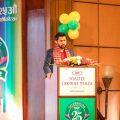 Mr Ravi Lamichhane (Brand Ambassador of Jagadamba Plastic) giving speech .